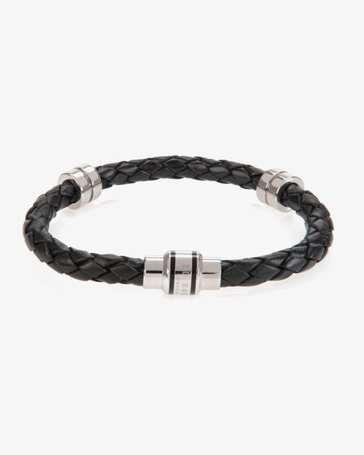 Ted Baker | Black Thick Leather Bracelet for Men | Lyst