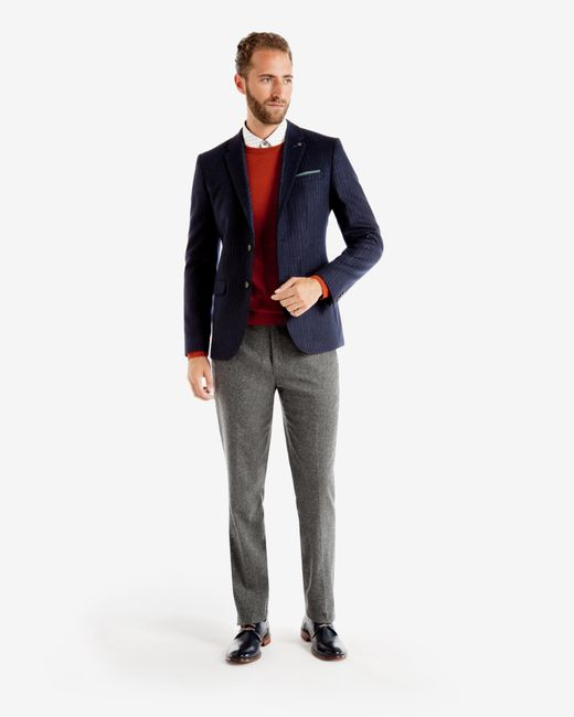 Ted Baker | Gray Wool And Cashmere-blend Trousers for Men | Lyst