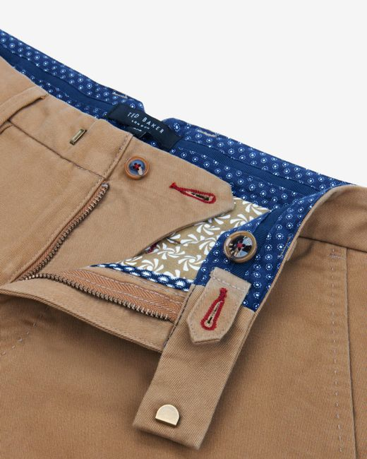 Ted Baker | Natural Coloured Cotton Chino Shorts for Men | Lyst