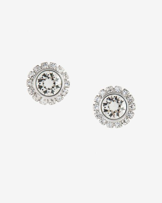 Ted Baker | Metallic Crystal Daisy Stud Earrings | Lyst