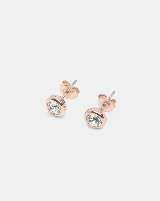 Ted Baker | Metallic Crystal Stud Earrings | Lyst