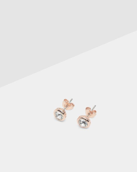 Ted Baker | Metallic Crystal Stud Earrings | Lyst