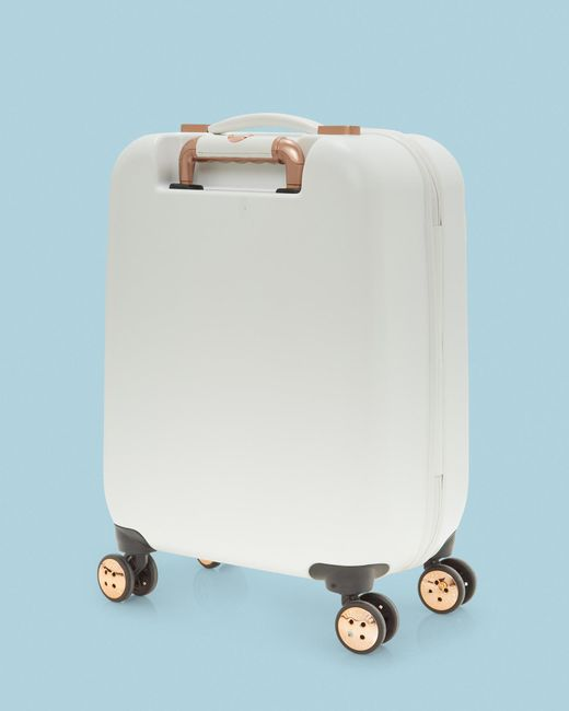 eca70e3d597f0 Ted Baker - White Bow Detail Small Suitcase - Lyst ...