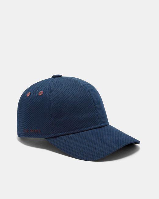Ted Baker - Blue Printed Cotton Baseball Cap for Men - Lyst