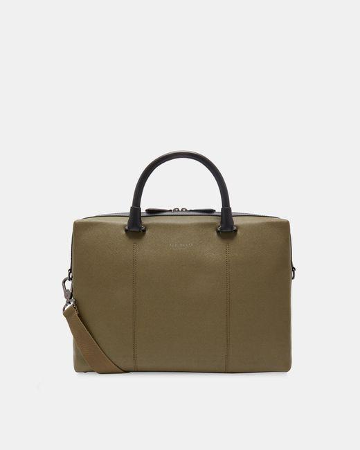Ted Baker - Green Crossgrain Document Bag for Men - Lyst