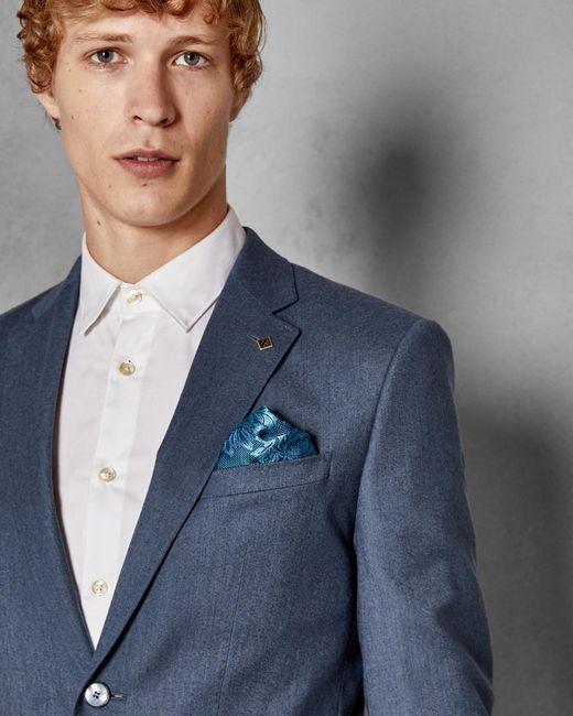 729f28243 ... Ted Baker - Blue Debonair Skinny Wool Suit Jacket for Men - Lyst ...