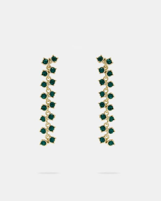 Ted Baker - Green Princess Sparkle Drop Earrings - Lyst