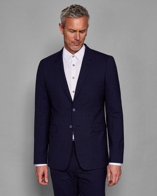 Ted Baker - Blue Debonair Checked Wool Suit Jacket for Men - Lyst