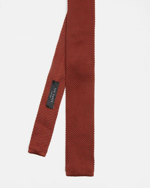 Ted Baker - Orange Knitted Tie for Men - Lyst