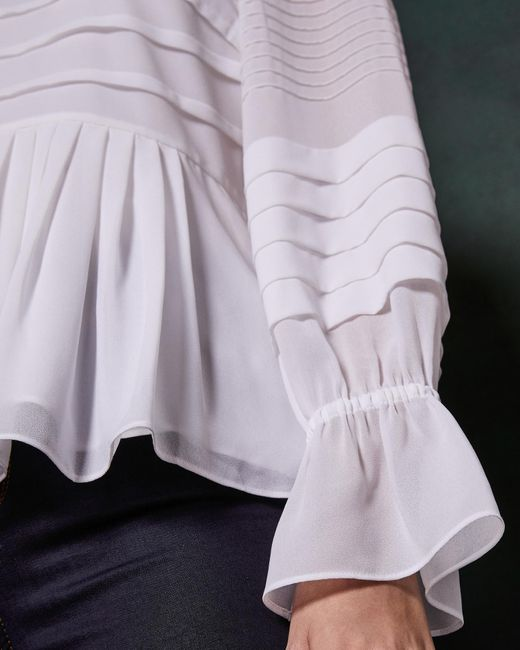 d5150c133a4a1 ... Ted Baker - White Pintuck Lace Detail Top - Lyst ...