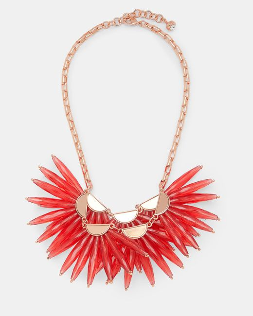 Ted Baker | Red Flare Burst Necklace | Lyst