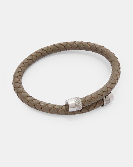 Ted Baker - Gray Knurling Leather Bracelet for Men - Lyst