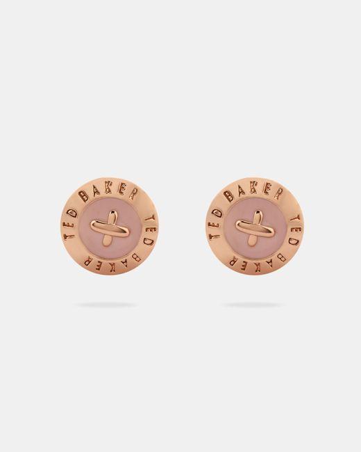 Ted Baker - Multicolor Enamel Button Stud Earrings - Lyst