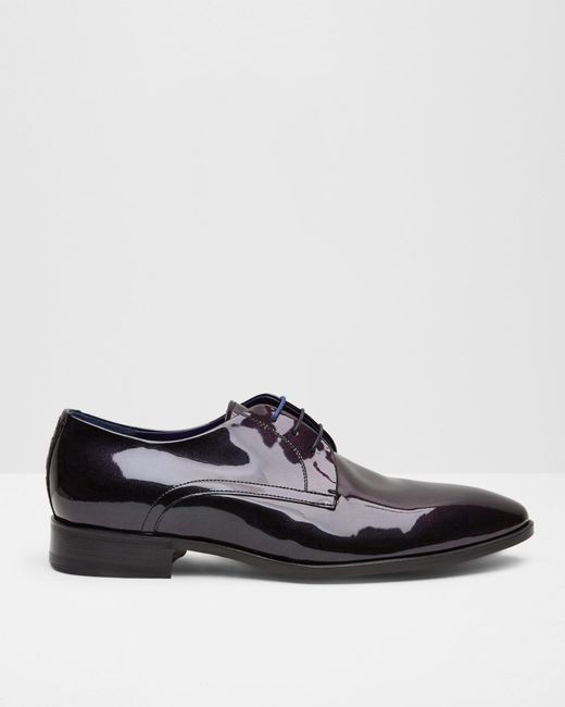 Ted Baker - Black Leather Derby Shoes for Men - Lyst