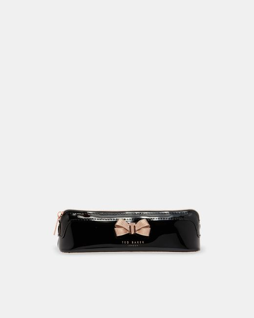 Ted Baker - Black Bow Detail Pencil Case - Lyst
