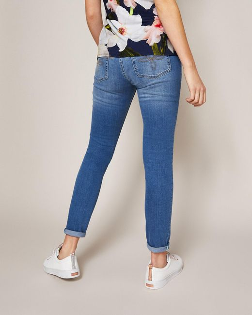 99ee51d62c1cd7 ... Ted Baker - Blue Ripped Skinny Jeans - Lyst ...
