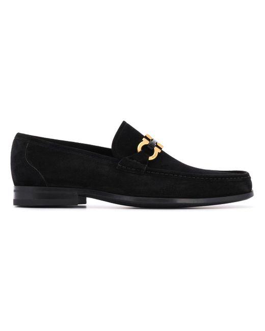 Ferragamo Black Loafer In Leather for men