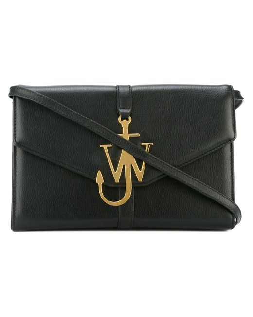 J.W.Anderson   Black Monogram Leather Shoulder Bag   Lyst