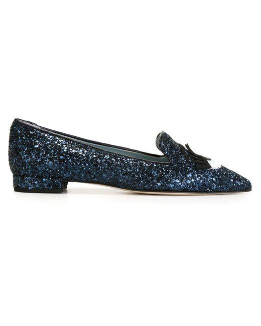 Chiara Ferragni   Black 10mm Flirting Glitter Loafers   Lyst