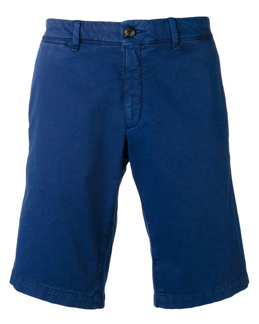 Moncler - Blue Logo Cotton Shorts for Men - Lyst