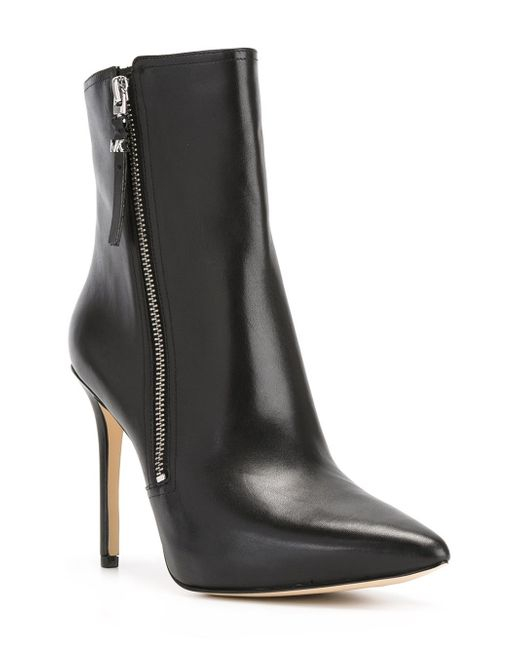 michael kors dawson leather boots in black save 40 lyst