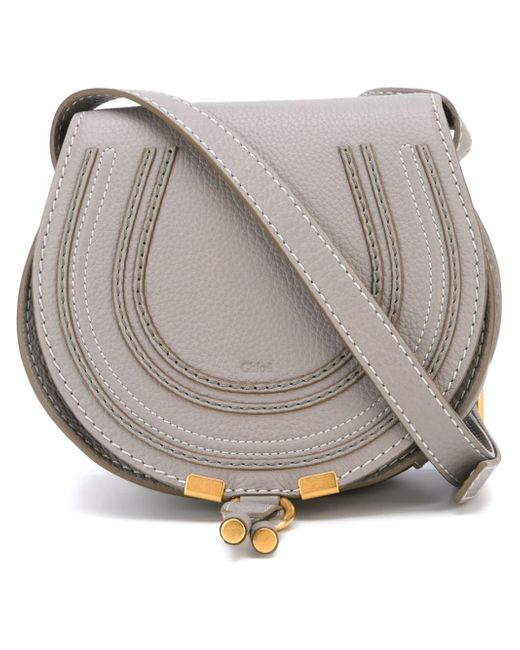 Chloé | Gray - Mini Marcie Bag - Women - Cotton/calf Leather/leather - One Size | Lyst