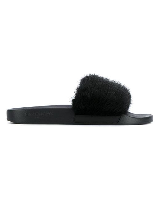 Givenchy | Multicolor Flat Sandals With Mink Fur for Men | Lyst