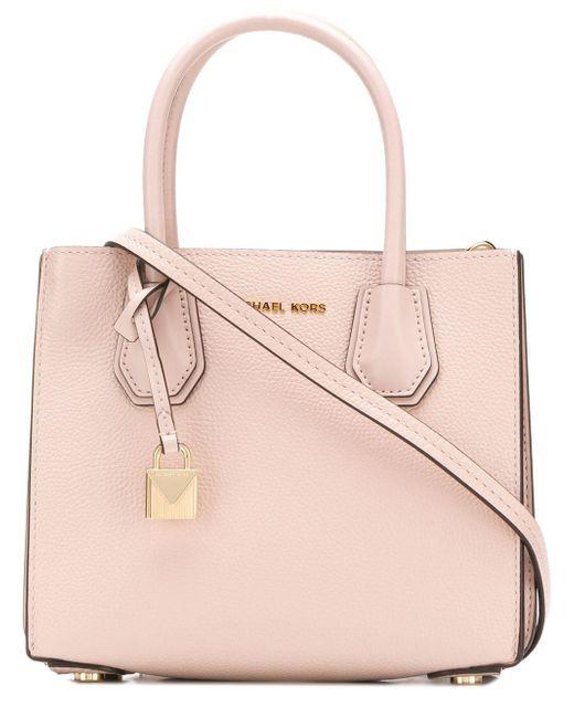 be9ed03beaa2 MICHAEL Michael Kors - Pink Mercer Leather Tote Bag - Lyst ...