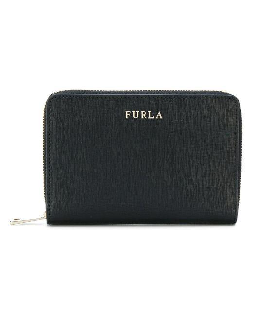 d567a357b72e Furla Black Leather Babylon Wallet in Black - Lyst