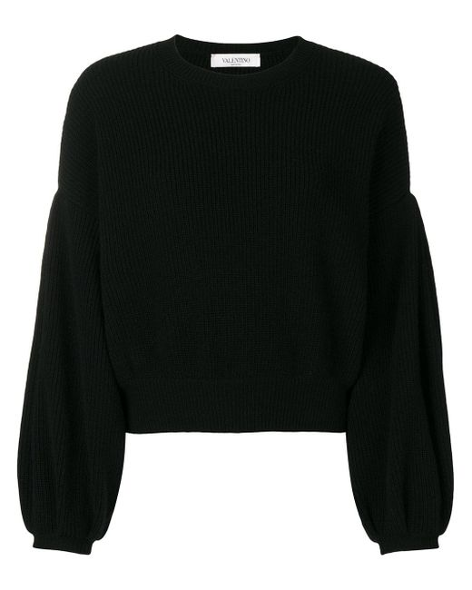 Valentino - Black Baloon Seleeved T-shirt - Lyst