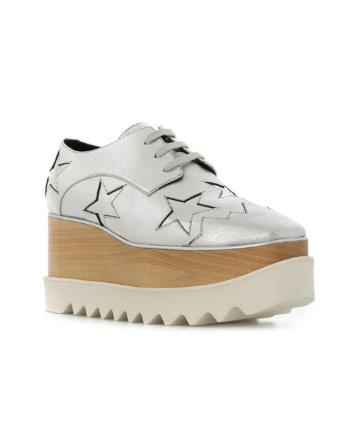 058668adf290 ... Stella McCartney - Metallic Elyse Stars Sneakers - Lyst ...