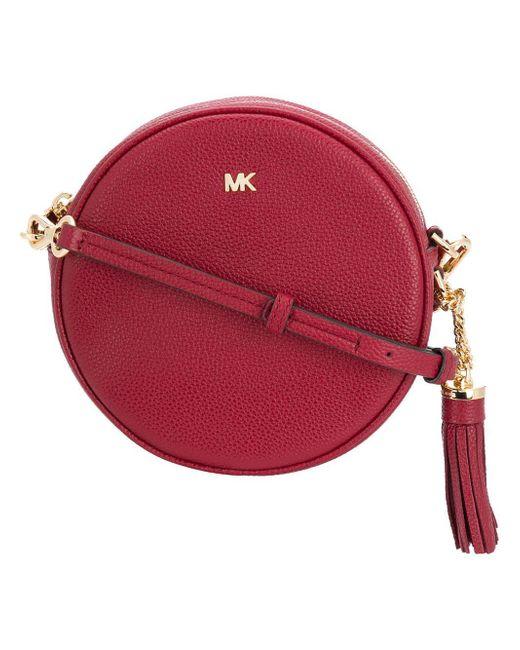 b0e38fb5c5c2 ... new zealand michael michael kors red leather canteen bag lyst 647ba  4ab61