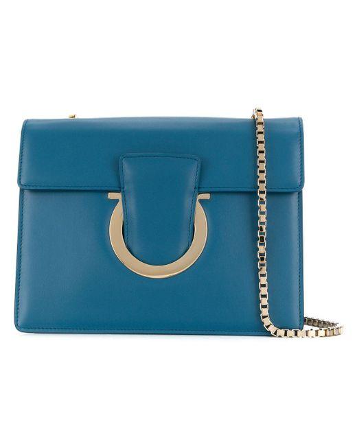 Ferragamo - Green Thalia Leather Shoulder Bag - Lyst ... 6b72daa96e835