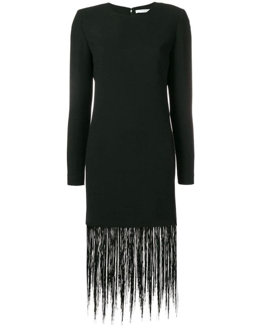 Lyst Givenchy Fringe Trim Shift Dress In Black Save