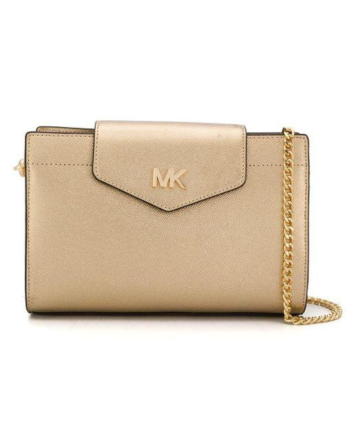 564f57d9de01 MICHAEL Michael Kors Large Leather Crossbody Bag in Metallic - Save ...