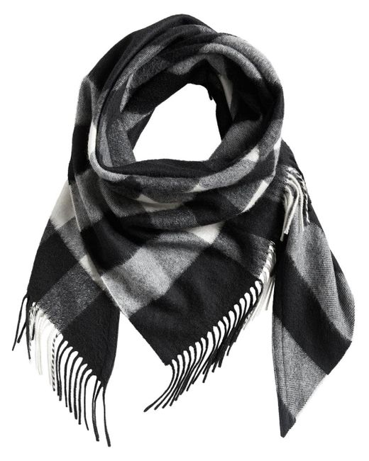 Burberry - Black Cashmere Scarf - Lyst