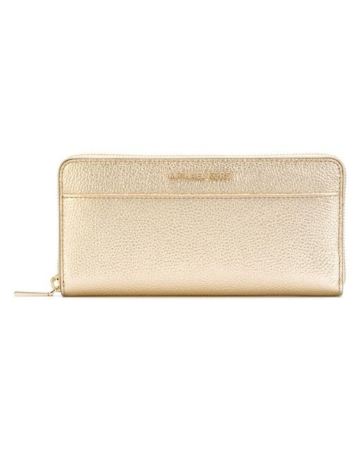 MICHAEL Michael Kors - Metallic Mercer Leather Wallet - Lyst