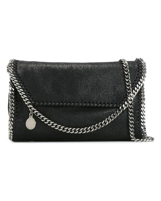Stella McCartney - Black 'falabella Shaggy Deer' Shoulder Bag - Lyst