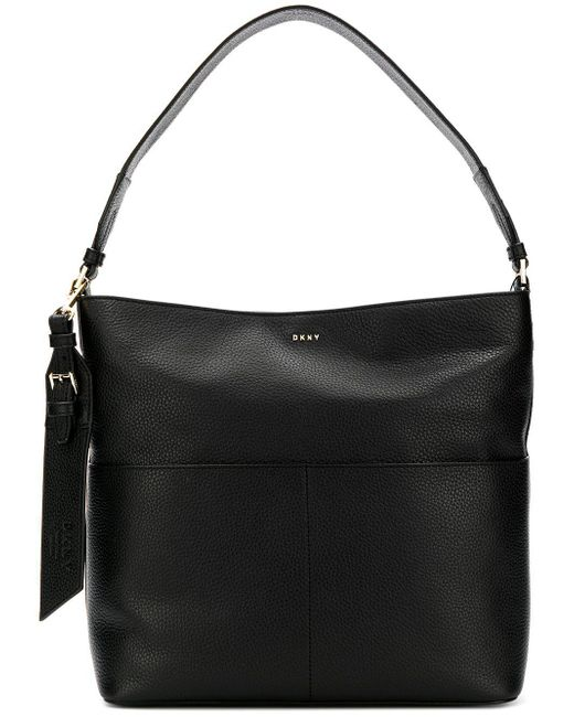 DKNY - Black Essex Leather Satchel Bag - Lyst