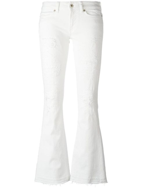 Dondup - White Neon Trousers - Lyst