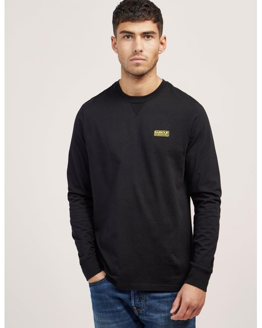 Barbour | Black International Small Logo Long Sleeve T-shirt for Men | Lyst