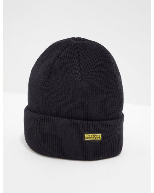 8ad77cc4 Barbour - Logo Beanie - Exclusively To Tessuti Black for Men - Lyst ...