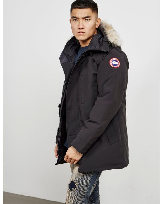 95c606976eb Canada Goose - Chateau Padded Parka Jacket Black for Men - Lyst ...