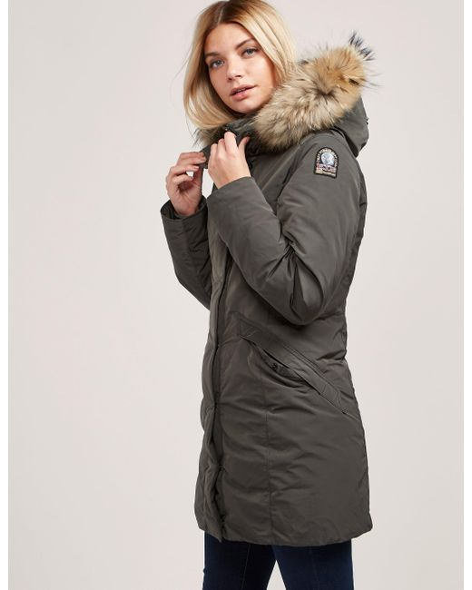 Parajumpers - Gray Womens Angie Padded Jacket Grey - Lyst ...
