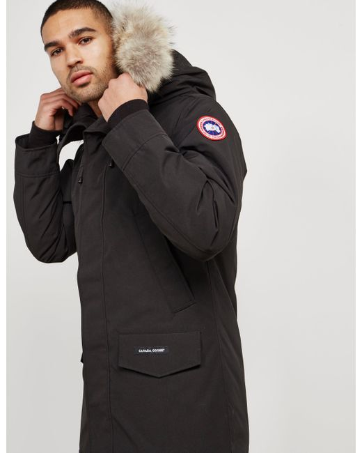 Canada Goose - Mens Langford Padded Parka Jacket Black for Men - Lyst ...