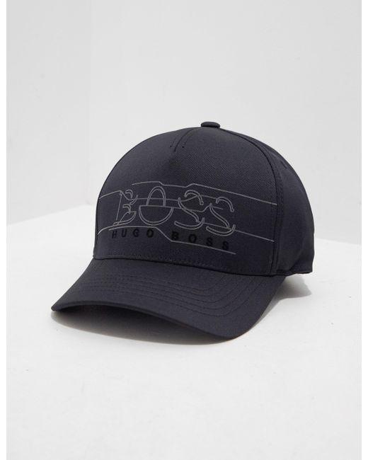 7d1d90cc273634 BOSS - Reflective Logo Cap - Online Exclusive Black for Men - Lyst ...