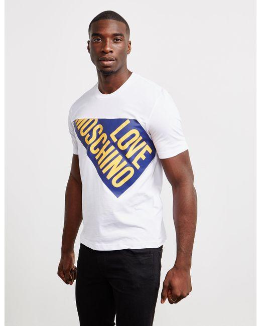 Love Split Short Logo Sleeve Men In Moschino For T Shirt White JclK1F