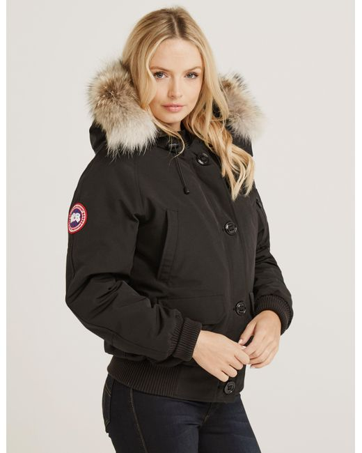 Canada Goose - Womens Chilliwack Padded Bomber Jacket Black - Lyst ...