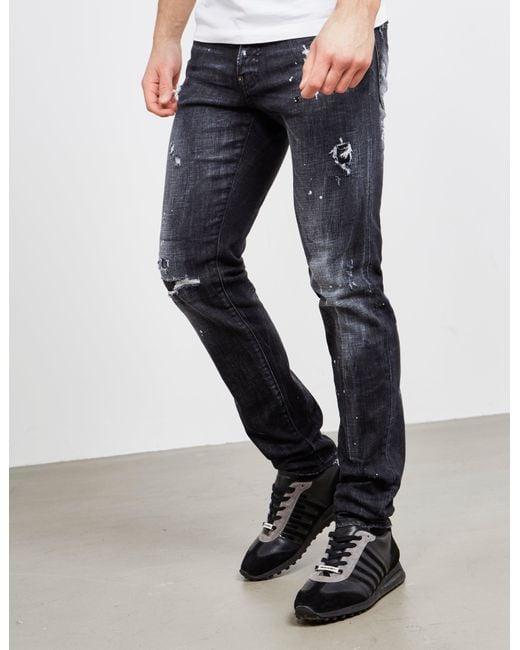 0de793bb5fb DSquared² Cool Guy Jeans Black in Black for Men - Lyst