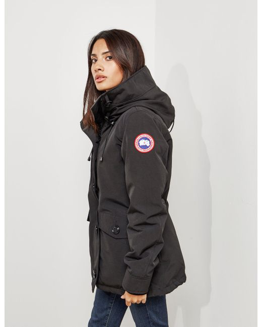 Canada Goose - Womens Rideau Padded Parka Jacket Black - Lyst ...